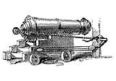 Carronade naval ordnance, c1884