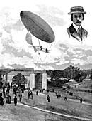 Alberto Santos-Dumont, Brazilian aviation pioneer, 1901