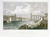 Menai Bridge (from the Anglesea Side)', 1830