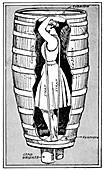Anne Edson Taylor in her Niagra Falls barrel