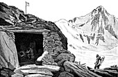 Shelter built by the glaciologist Louis Agassiz, Switzerland