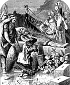 Death of Alaric I, King of the Visigoths at Cosenza, Italy