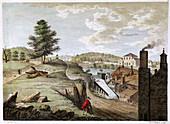 Greenfield Brass Mill near Holywell, Flintshire, Wales, 1792