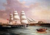 John Wood Approaching Bombay', c1850