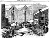 Storing ice in insulated sheds, Charles's Ice Store, London