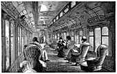 Pullman drawing room car on the Midland Railway, England