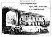 Interior of a sugar refinery, 1860
