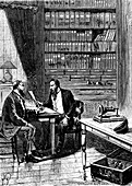 Alexander Graham Bell, Scottish-born American inventor, 1876