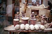 Funerary tomb model of a bakery, Ancient Egyptian