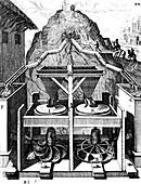 Two horizontal water wheels, 1673