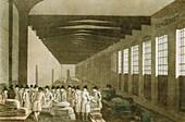 Interior of the Cloth Hall, Leeds, 1814