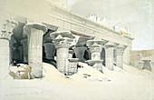 Portico of the Temple of Edfu dedicated Horus, Egypt
