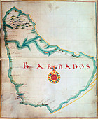 Map of Barbados, 1683