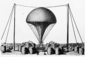 Inflating a hydrogen balloon, 1845