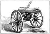 Gatling rapid fire gun, 1870
