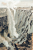 Victoria Falls, Africa, viewed from the east, 1866