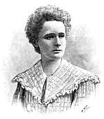 Marie Sklodowska Curie, Polish-born French physicist, 1904