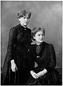 Manya Sklodowska and her sister Bronya, 1886