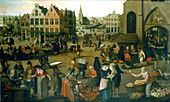 View of a market place', c1570-1603