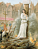 Joan of Arc, Maid of Orleans, French patriot and martyr,