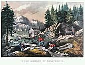 Gold Mining in California', 1849