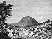 Silbury Hill, Wiltshire, England, 1836