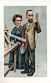 Pierre and Marie Curie, French physicists, 1904