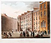 Inner court, Fleet Prison, London, 1808-1811
