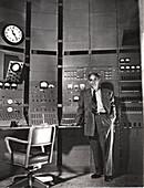 Enrico Fermi, Italian-born American nuclear physicist, c1942