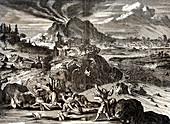 Eruption of Shirane-san and earthquake at Edo, Japan, 1650