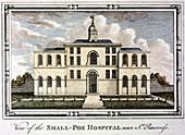 Smallpox hospital, St Pancras, London, c1800
