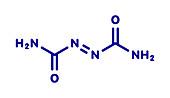 Azodicarbonamide food additive molecule