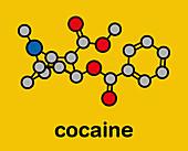 Cocaine stimulant drug molecule