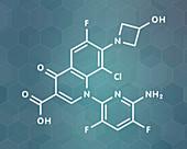 Delafloxacin antibiotic drug molecule