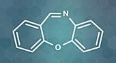 Dibenzoxazepine tear gas molecule