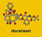 Docetaxel chemotherapy drug molecule