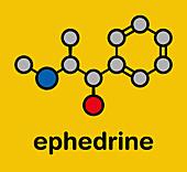 Ephedrine stimulant drug molecule