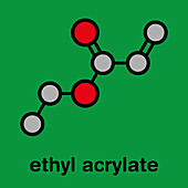 Ethyl acrylate molecule