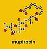 Mupirocin antibiotic drug molecule