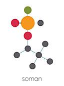 Soman nerve agent molecule