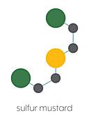 Sulfur mustard molecule