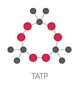 TATP explosive molecule