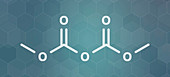 Dimethyl dicarbonate beverage preservative molecule