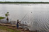 Fishing in Louisiana bayou