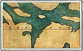 Secci's map of central Mars, 1860