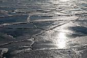 Ice on Lake Huron, Michigan, USA