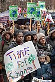 Climate change demonstration, Michigan, USA