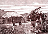 Boat-building on New Caledonia, 19th century