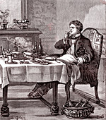 Demonstration of the sense of smell and taste, 19th century