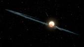 Dust ring around Boyajian's star, illustration